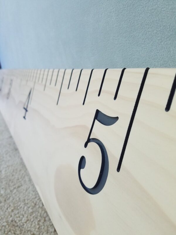 Antique White & Gray - Engraved Wood Growth Chart