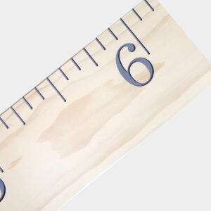 Antique White and Gray Wood Engraved Growth Chart