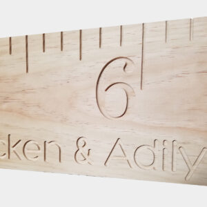 DIY Unfinished Growth Chart, Engraved